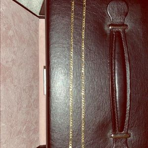 Jewelry - 14KT GOLD FIGARO CHAIN 20 INCHES LOBSTER CLASP OBO